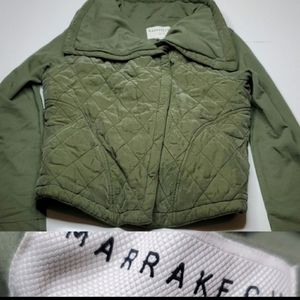 ANTHROPOLOGIE MARRAKECH large QUILTED JACKET COAT